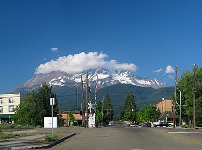 Mount Shasta From Mount Shasta City, California