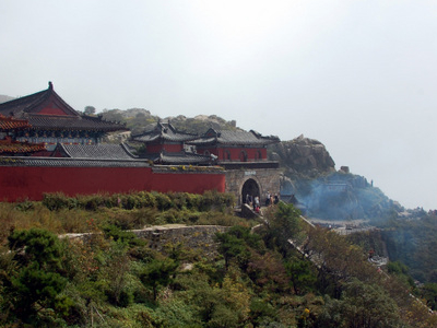Temple Complex At The Top Of Mount Tai