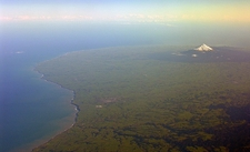 Mount Taranaki & Egmont NP Aerial View NZ