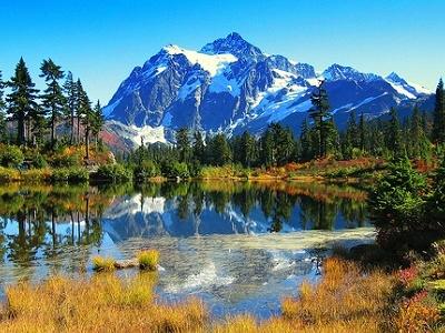 Mt. Shuksan In Picture Lake WA
