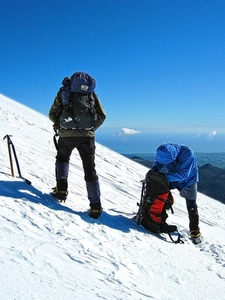 Mt. Taranaki Winter Climbing - Egmont NP - North Island NZ