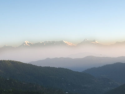 Himalayas In The Backdrop