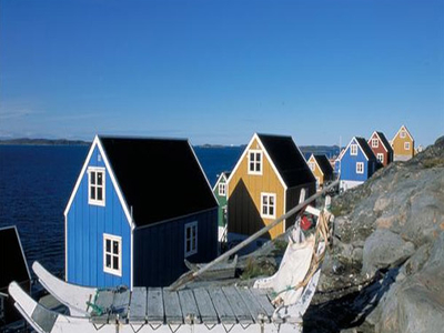Multi-colored Row Houses In Aasiaat