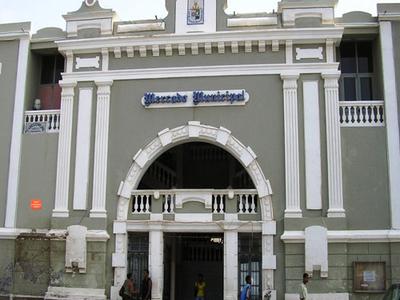Municipal Market In Mindelo Town