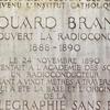 Plaque At The Musée Édouard Branly