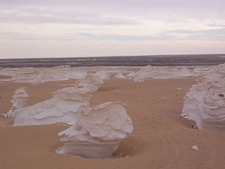 Mushroom Rock Formations At The White Desert