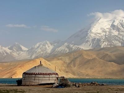 Muztagh Ata Peak & Karakul Lake