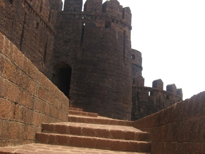 Main Entrance To The  Mirjan Fort