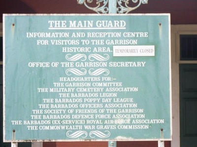 Sign On The Main Guard