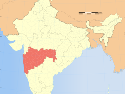Map Of India Showing Location Of Maharashtra