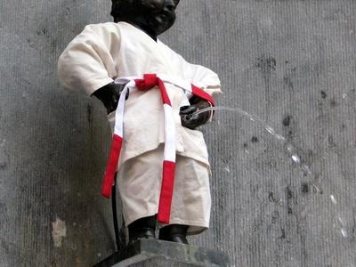 Manneken Pis In Judopak Brussel  1