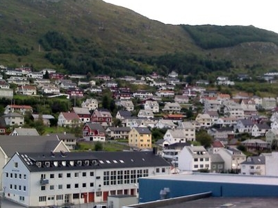Måløy Town From The Harbour