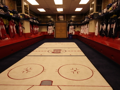Canadiens Locker Room