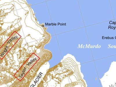 Map Of The McMurdo Sound And The Dry Valleys