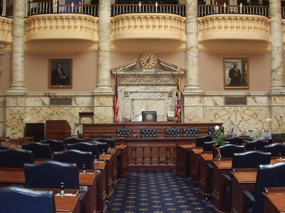 Chamber Of The Maryland House Of Delegates