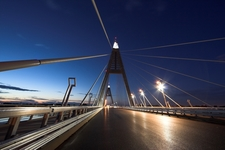 Megyeri Bridge At Night