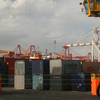 Container Straddle Carriers At Swanson Dock