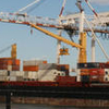 Three Container Ships Berthed At Swanson Dock West