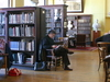 Members And Visitors In Library