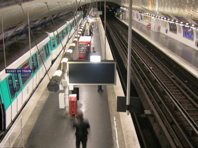 Line 7 Platforms At Porte D'Ivry