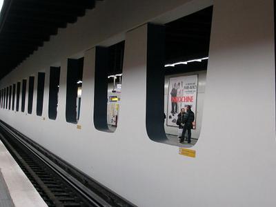 Line 4 Platforms At Les Halles