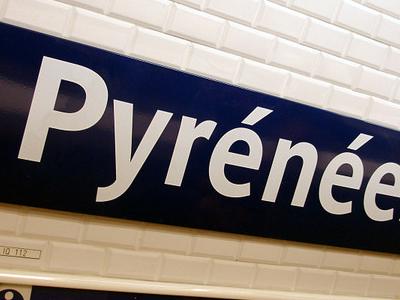 Platform Signage At Pyrenees