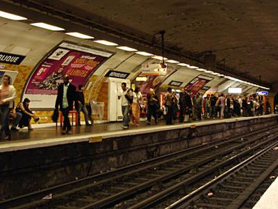 Line 5 Platforms At Republique