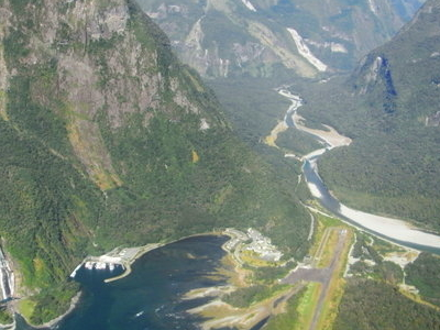 Milford Sound Airport From An Aircraft
