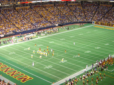 Metrodome During Gophers Game