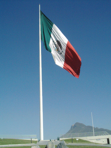 A Bandera Monumental In Monterrey