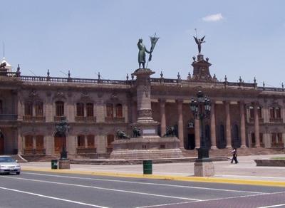 The Facade Of The Palacio De Gobierno