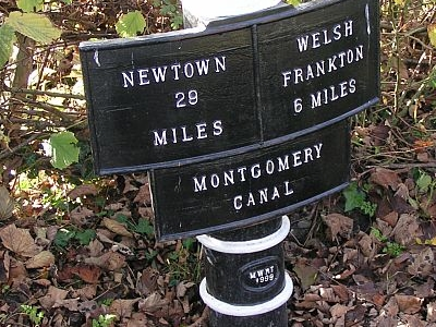 Montgomery Canal Milepost