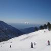 Skiing Overlooking Los Angeles