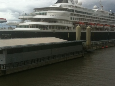 MS Prinsendam At Liverpool's Cruise Liner Terminal