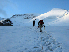 North Glacier Route On Mount Athabasca
