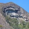 The Unique Overhanging Rock Face Of Mount Beerwah