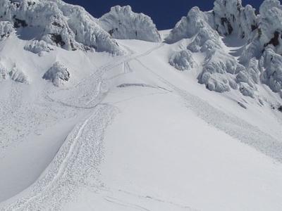 Bergschrund On Coalman Glacier