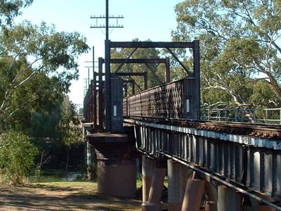 Wrought Iron Lattice Railway Bridge