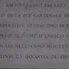 Plaque In Porte Cochere Of Palazzo Muti