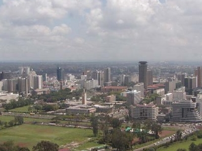 Nairobi  2 7s Skyline From A Distance .