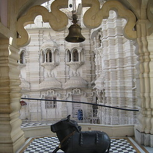 Nandi At Chhatarpur Temple