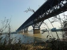 Nanjing Yangtze River Bridge Underview