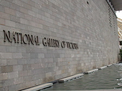 National Gallery Of Victoria Entrance Sign