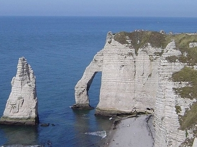 Natural Cliffs In Étretat