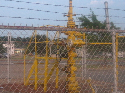 Natural Gas Well In  Springhill