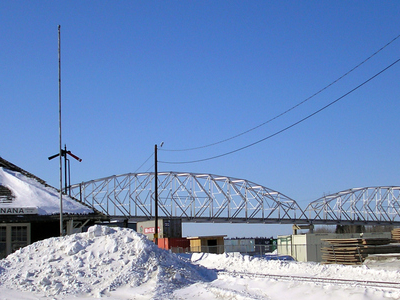 Nenana Train Station And Parks Highway Bridge