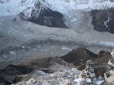 Nepal Island Peak Merging Glaciers