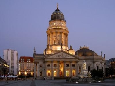 Neue Kirche At Night