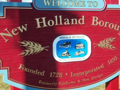 New Holland Borough Sign In