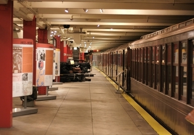 Station Platform With Museum Exhibits